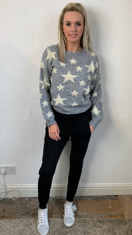 LOOPED STAR KNIT