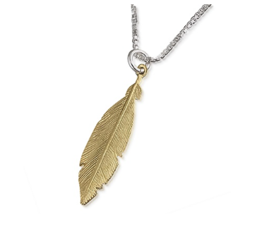Sparkling Jewellery Hoxton Feather Necklace