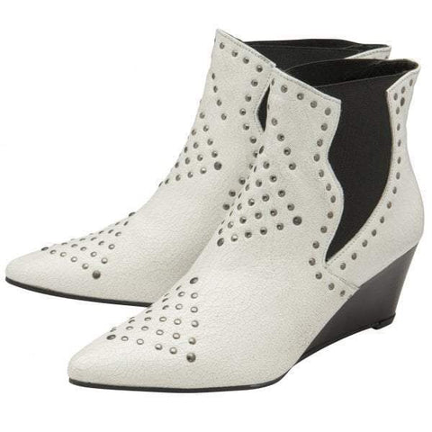 Ravel Reefton White Leather Ankle Boot