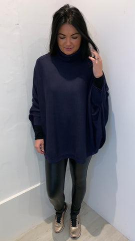 STUDIO ROLL NECK JUMPER /PONCHO