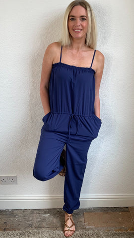 Saint Tropez Shoe String Strap Jumpsuit