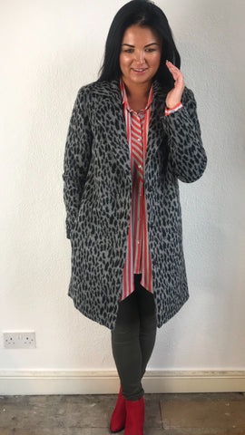 Saint Tropez Animal Print Coat