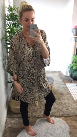 LEOPARD PRINT TUNIC/COVER-UP
