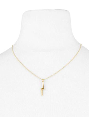 OLIA MARLEY GOLD NECKLACE WITH LIGHTNING STRIKE PENDENT
