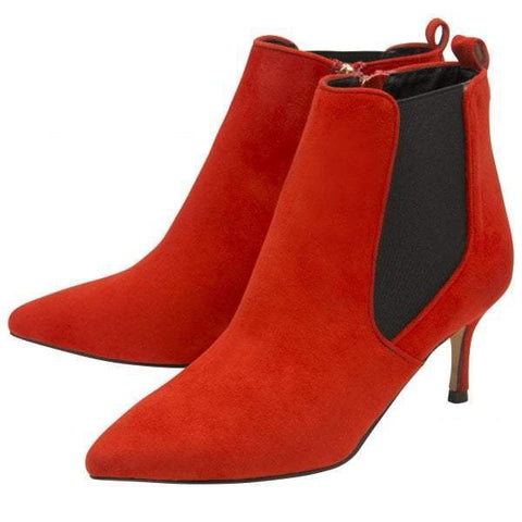 Ravel Cheviot Red Imi Suede Ankle Boots