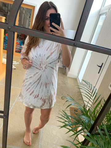 OVERSIZED TIE DYE TUNIC DRESS
