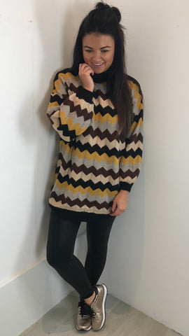 AZTEC PRINT LONG LINE JUMPER