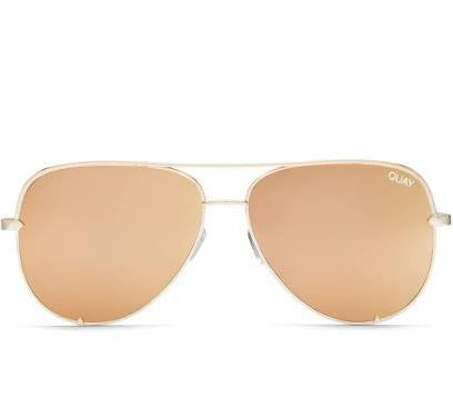 Quay Australia High Key Mini Gold/ Gold Sunglasses