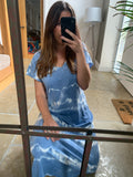 TIE DYE T SHIRT MAXI DRESS