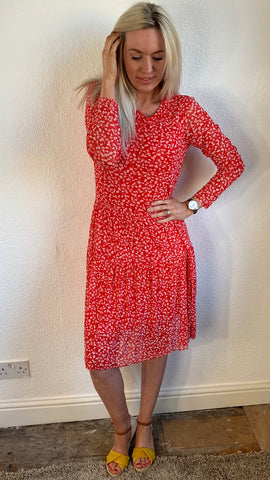 Saint Tropez Dress With Leaf Print