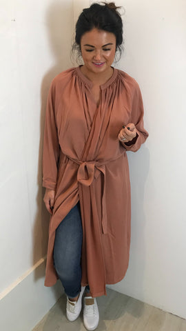 JOVONNA DESANTE THROW ON BELTED JACKET/DRESS