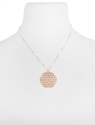 OLIA JAMILA GOLD NECKLACE WITH DISC PENDENT