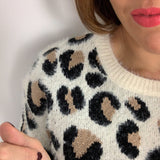 LEOPARD FLUFFY JUMPER