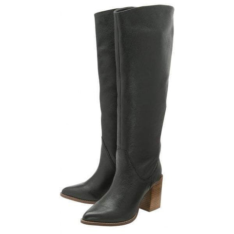 Ravel Lumsden Black Leather Knee High Boot