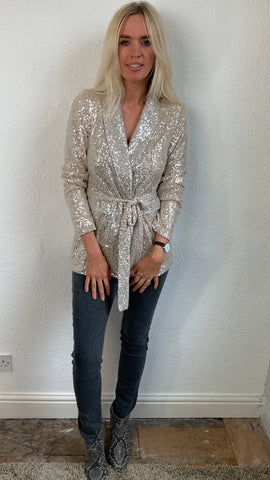 GOLD SPARKLY JACKET