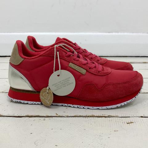 Woden Nora Ribbon Red Trainers