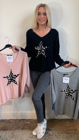 Leopard Star Jumper