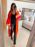 MULTICOLOUR KNIT LONG CARDIGAN