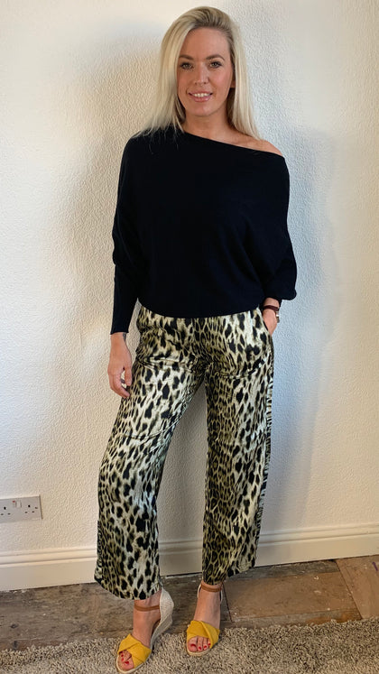 Nu Denmark Army Mix Leopard Trousers