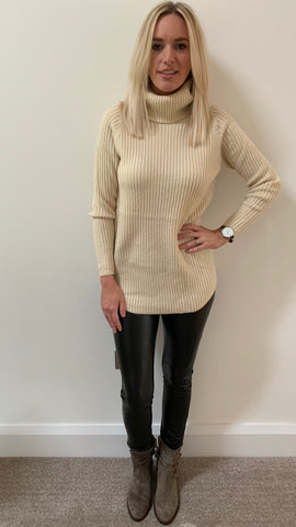 B Young Bynora Tunic Roll Neck Jumper