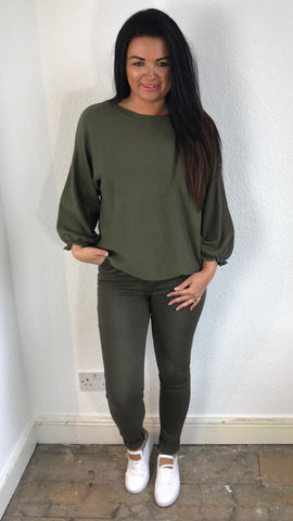 Simple jumper with detail cuff