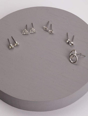 OLIA BRIDGET SET OF 5 EARRINGS