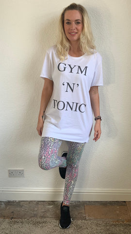 A POSTCARD FROM BRIGHTON OVERSIZED SLOGAN GYM TEE
