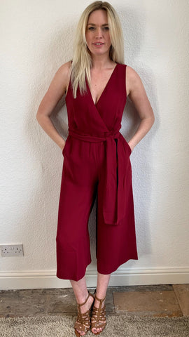 French Connection Bessie Sleveless Crepe Jumpsuit