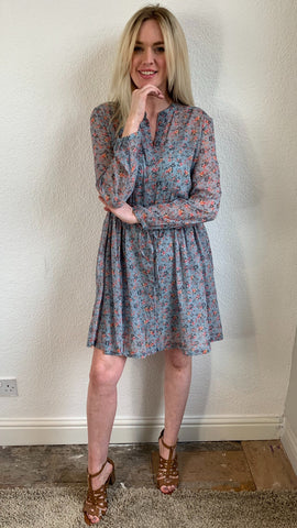 French Connection Fifine Crinkle Shirt Dress