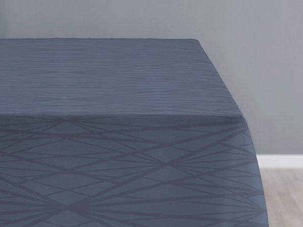 SÖDAHL DIAMOND DAMASKDUG 140 X 320 CM I CHINA BLUE