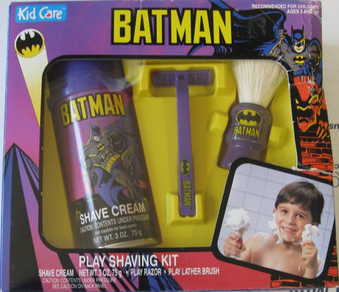 Batman play shaving kit for your kids only from KC Shave Co