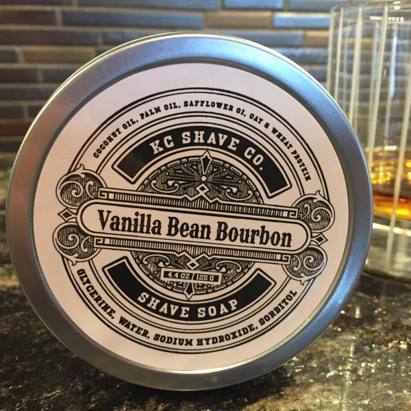 KC Shave Co. Vanilla Bean Bourbon Shave Soap