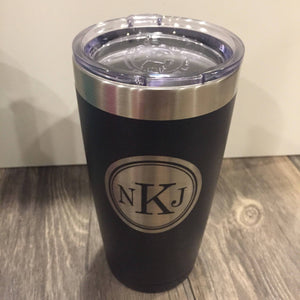 Personalized 20 oz Black Polar Camel Tumbler