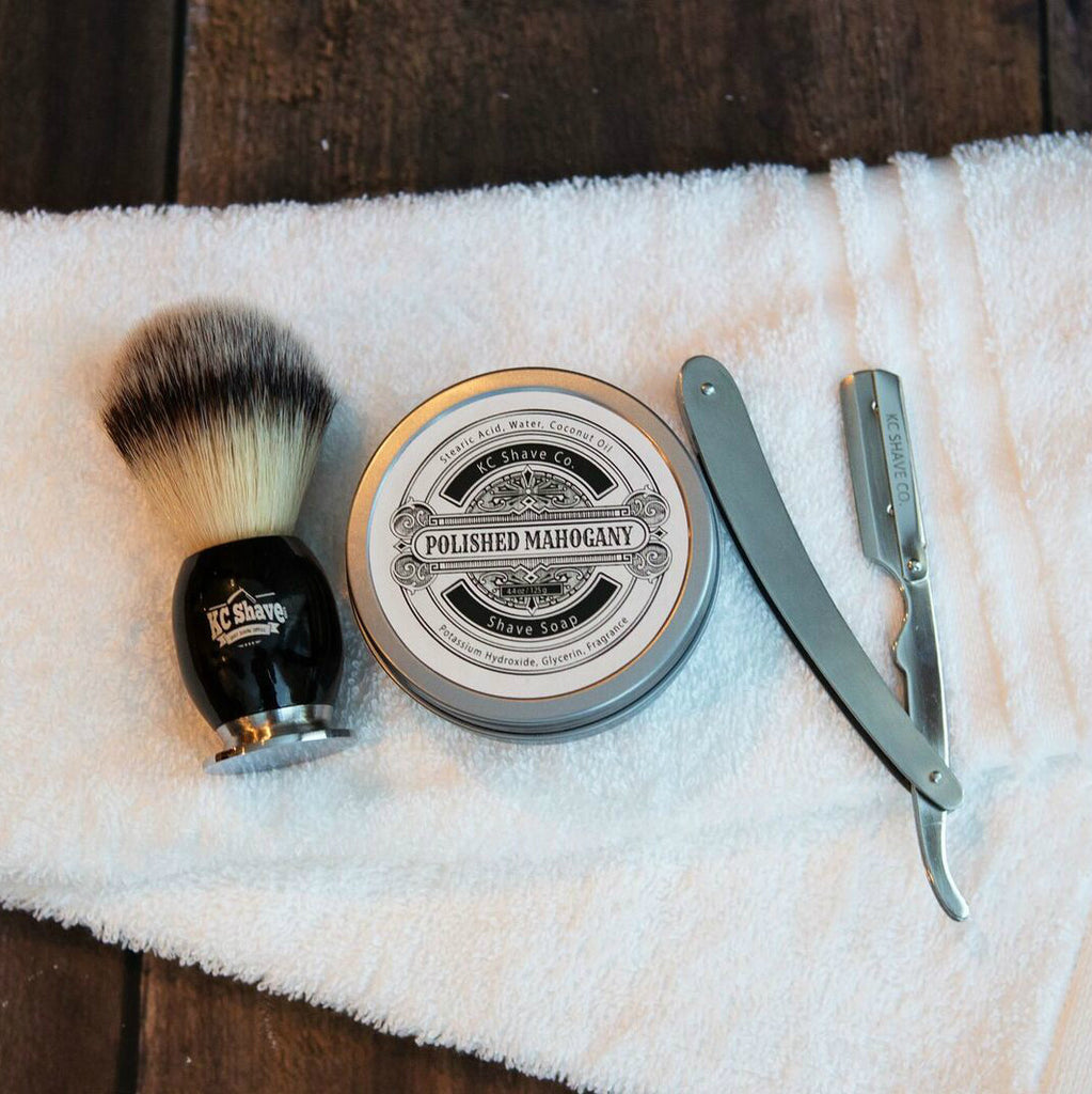 Kc shave co premium shaving supplies and beard care products kc shave co produces a premium straight razor kit fit for a king the baditri Image collections