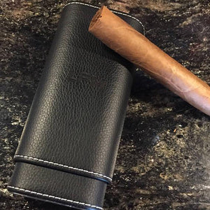 Cigar Case - Carry Your Best Cigars In This Leather-Bound Beauty