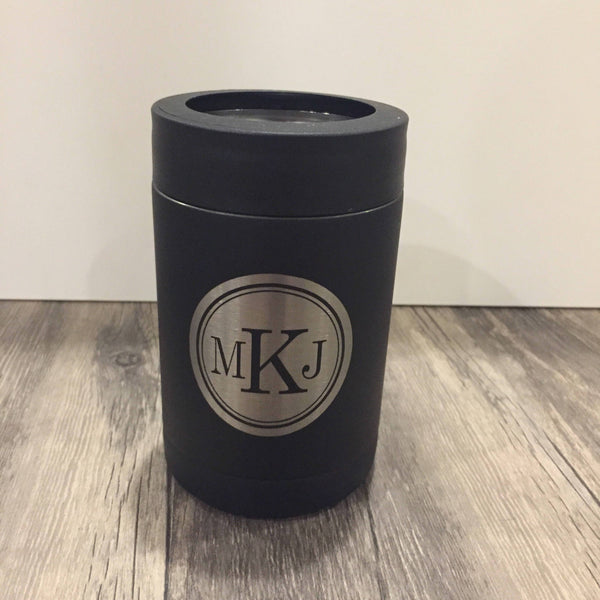 Personalized 12 oz Black Tumbler Cozy
