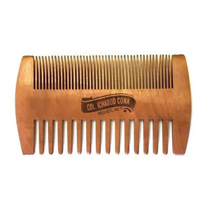 Dual sided beard comb to prevent snags, control and position beards and mustaches alike.  Perfect to fit in any gentleman's pocket.