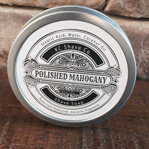 KC Shave Co. Polished Mahogany Shave Soap