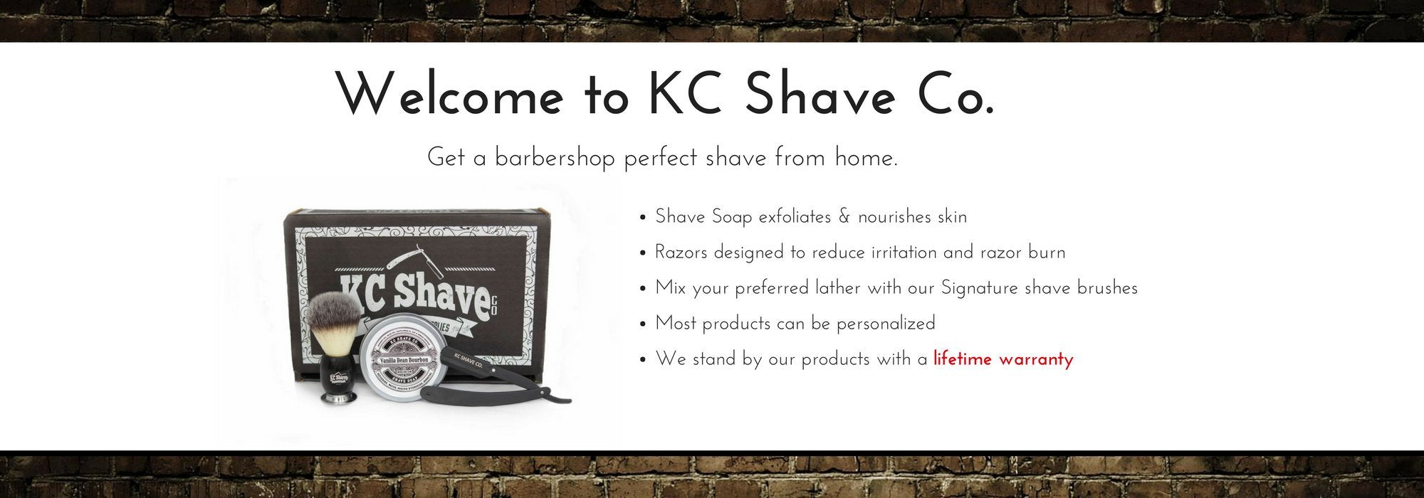 Welcome to KC Shave Co.  We offer the best straight razor kit in the world.