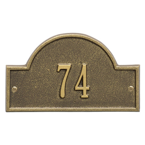 Address plaque Arch marker petite wall