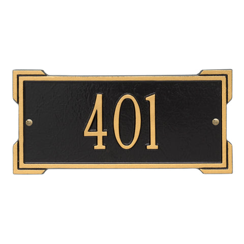 Address plaque Mini Roanoke marker 1026