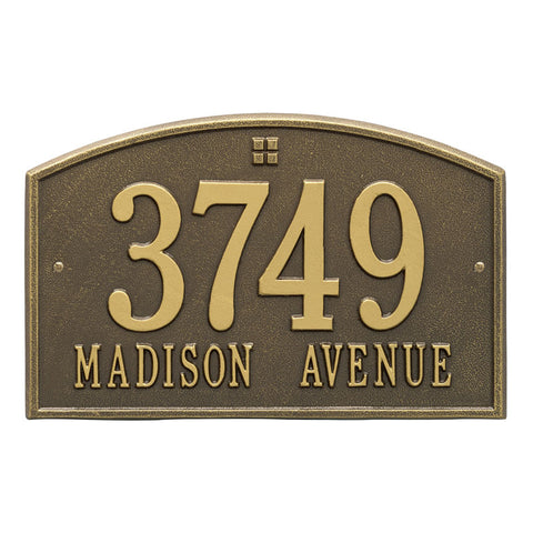 Address plaque Cape Charles standard wall marker