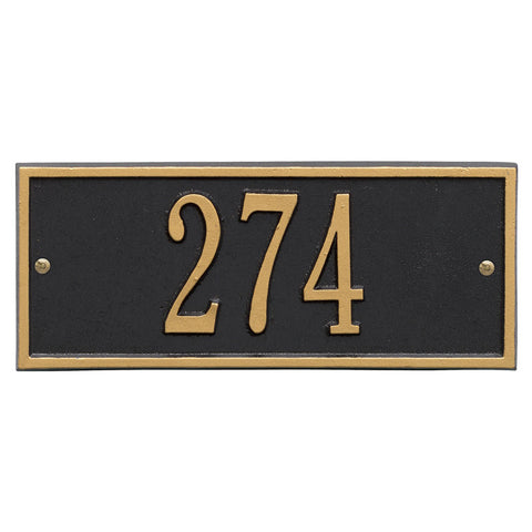 Address plaque Hartford mini wall marker 1230