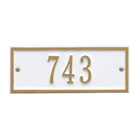 Address plaque Hartford Petite wall marker