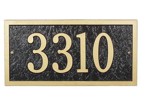 Address plaque Bismarck wall