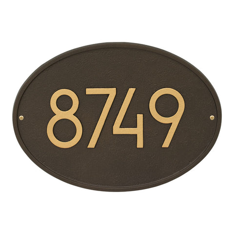 Address plaque Neohaus Modern Hawthorn Personalized wall