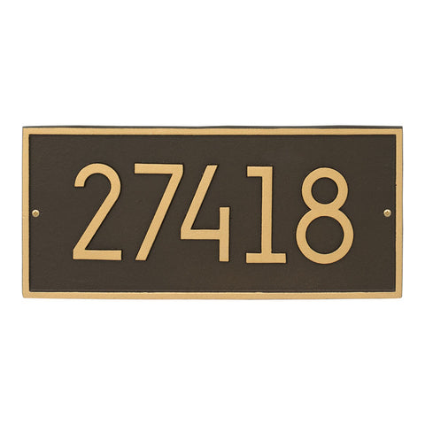 Address plaque Neohaus Modern Hartford personalized wall