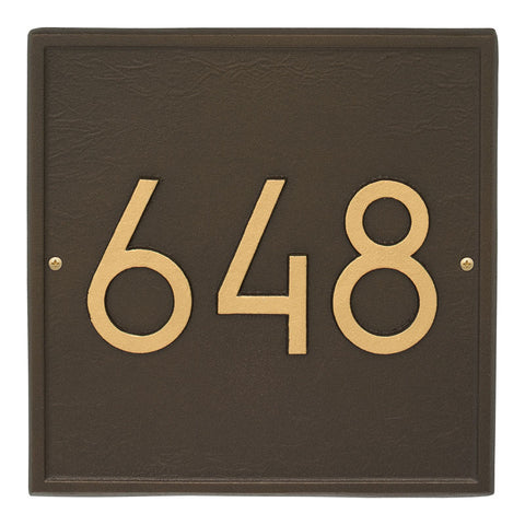 Address plaque Neohaus Square  Modern Personalized Wall