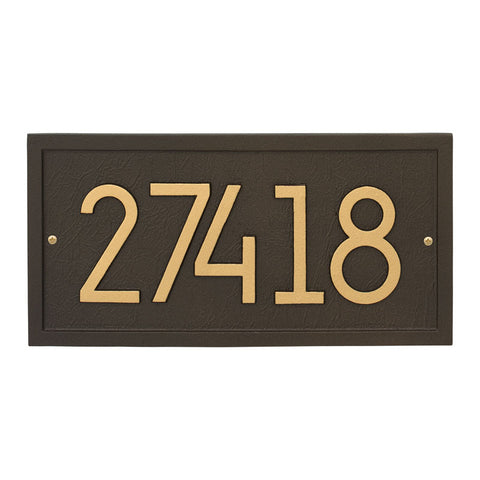 Address plaque Neohaus Modern Rectangle personalized wall