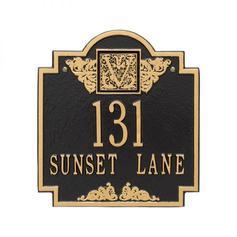 Address plaque Monogram standard wall